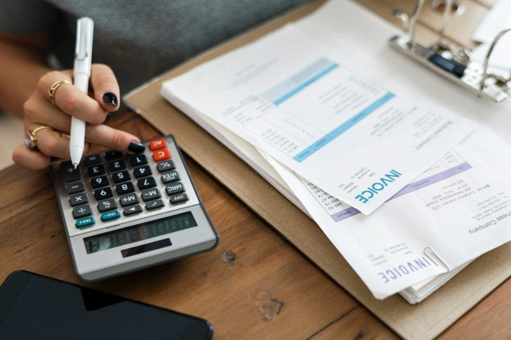 tracking bills in your first budget