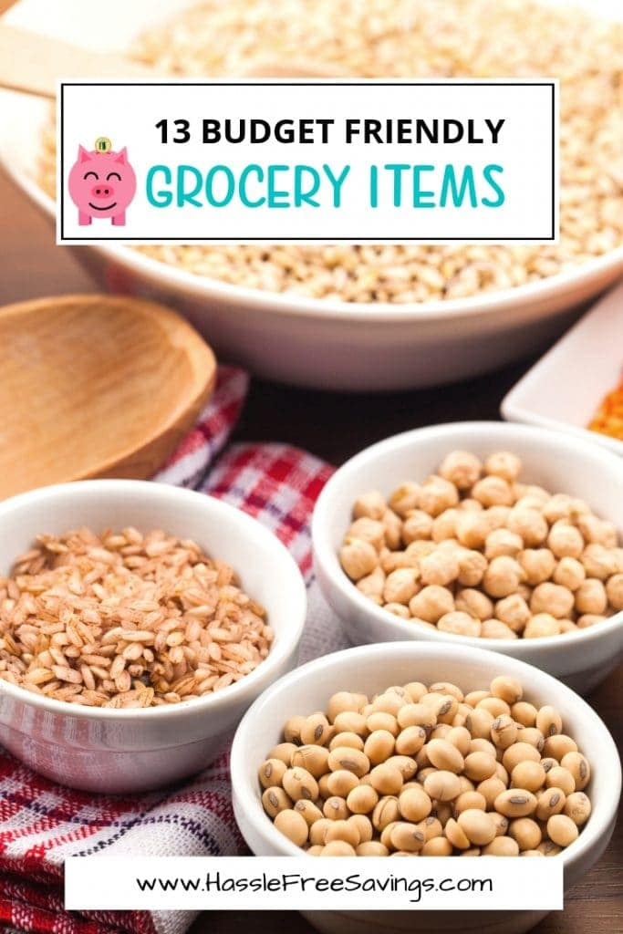 13 budget friendly grocery items