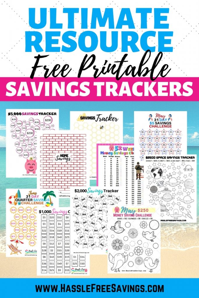 Ultimate Resource for FREE Printable Savings Trackers.
