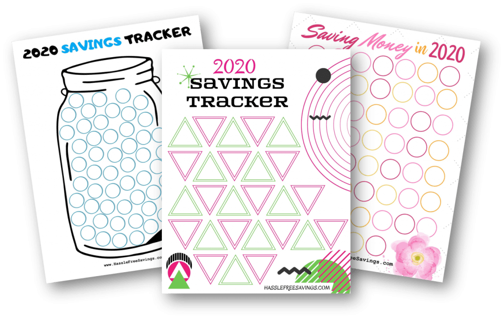 2020 free printable money saving trackers