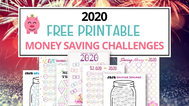 2020 money saving challenge blog post with free printables