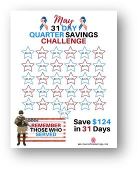 31 day quarter savings challenge