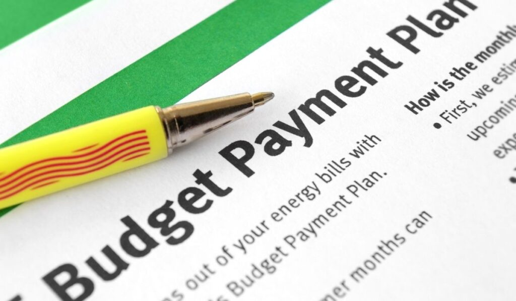 Budgeting payments planning
