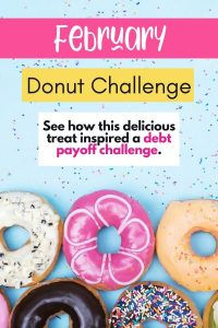 February 2020 Debt Payoff Challenge Tracker - Free Donut Printable