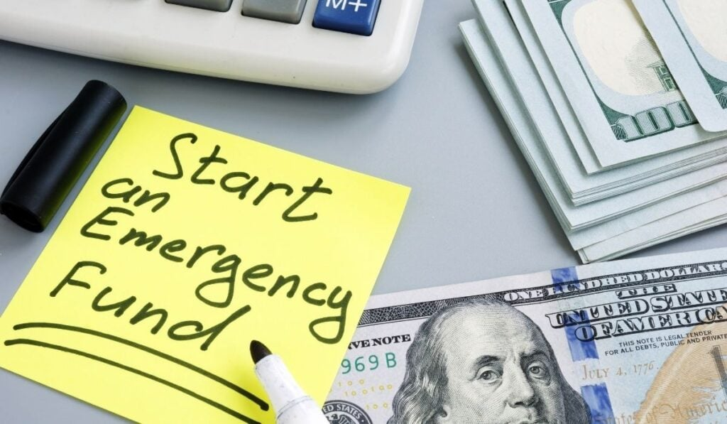 Start saving for emergency