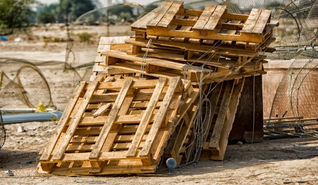 Wood Pallet in construction site