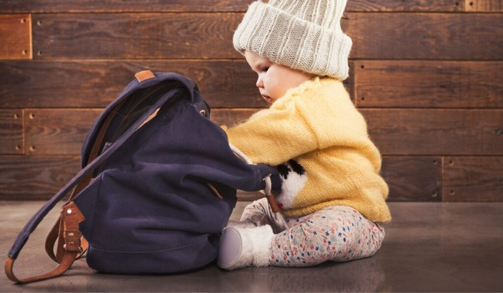 backpack to carry baby-related stuff