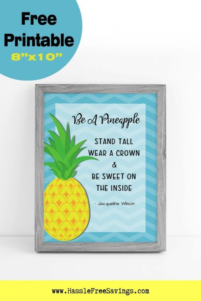 photo regarding Free Printable Pineapple named Be a Pineapple - 7 No cost Printable Pineapple Quotations - Hle