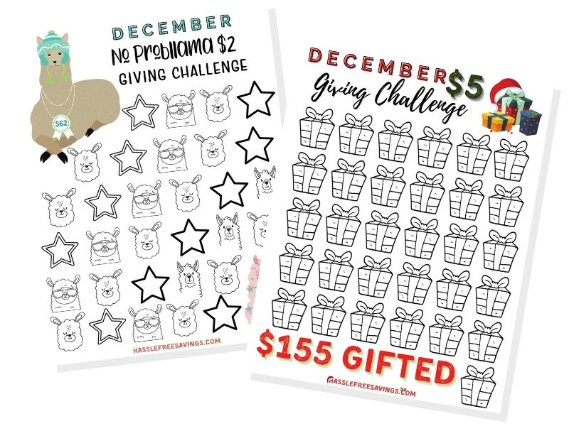 december giving challenge trackers
