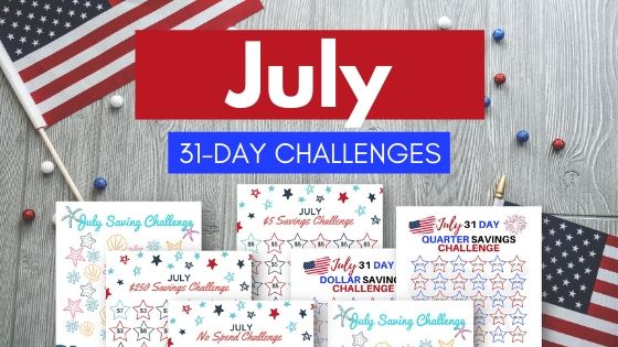 July 31 Day Money Saving Challenges Header Image