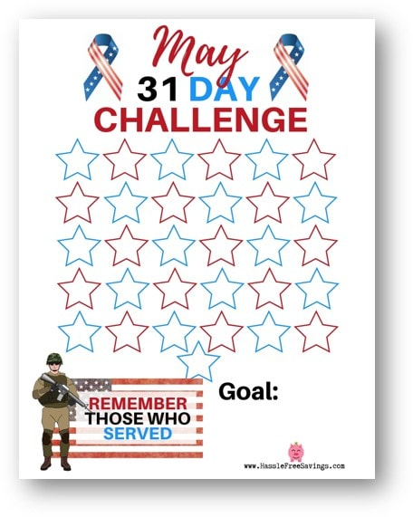 31-day challenge free printable