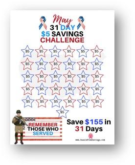 may $5 Savings Challenge