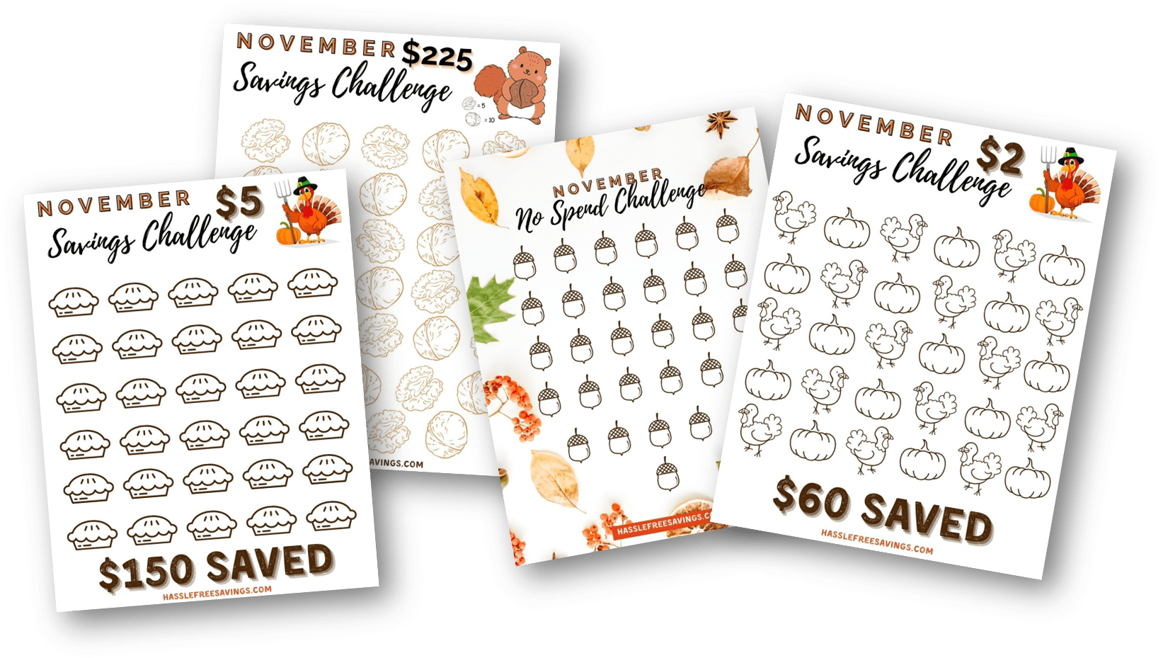 november saving challenges