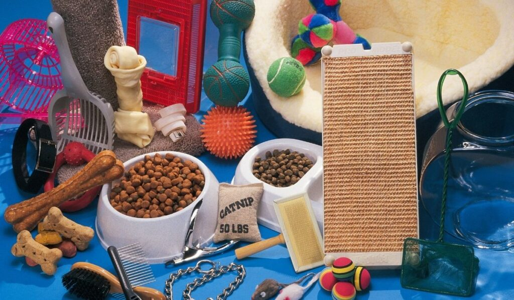 pet supplies and items