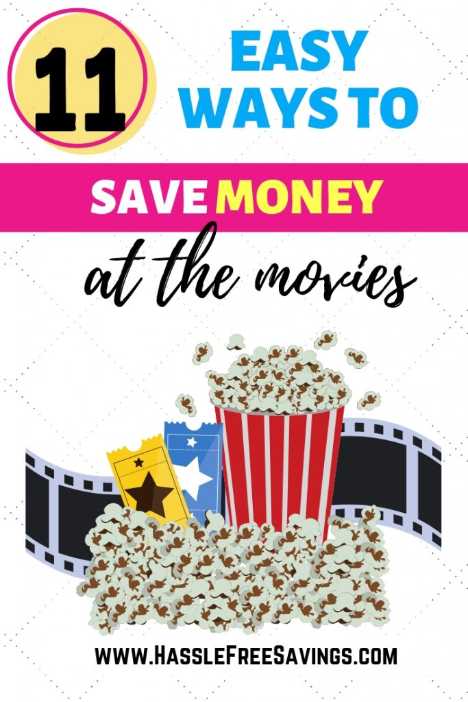 popcorn on top of movie real, pinterest image
