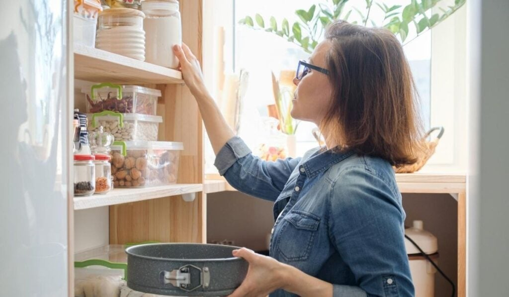 woman in kitchen pantry